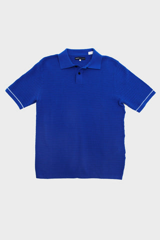 levi's made and crafted Crochet Stitch Polo - Victoria Blue