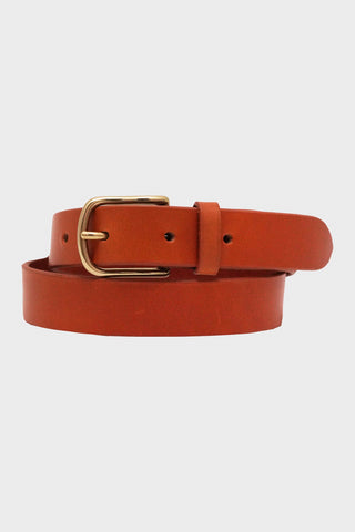 laperruque Belt - Gold Leather and Brass Buckle