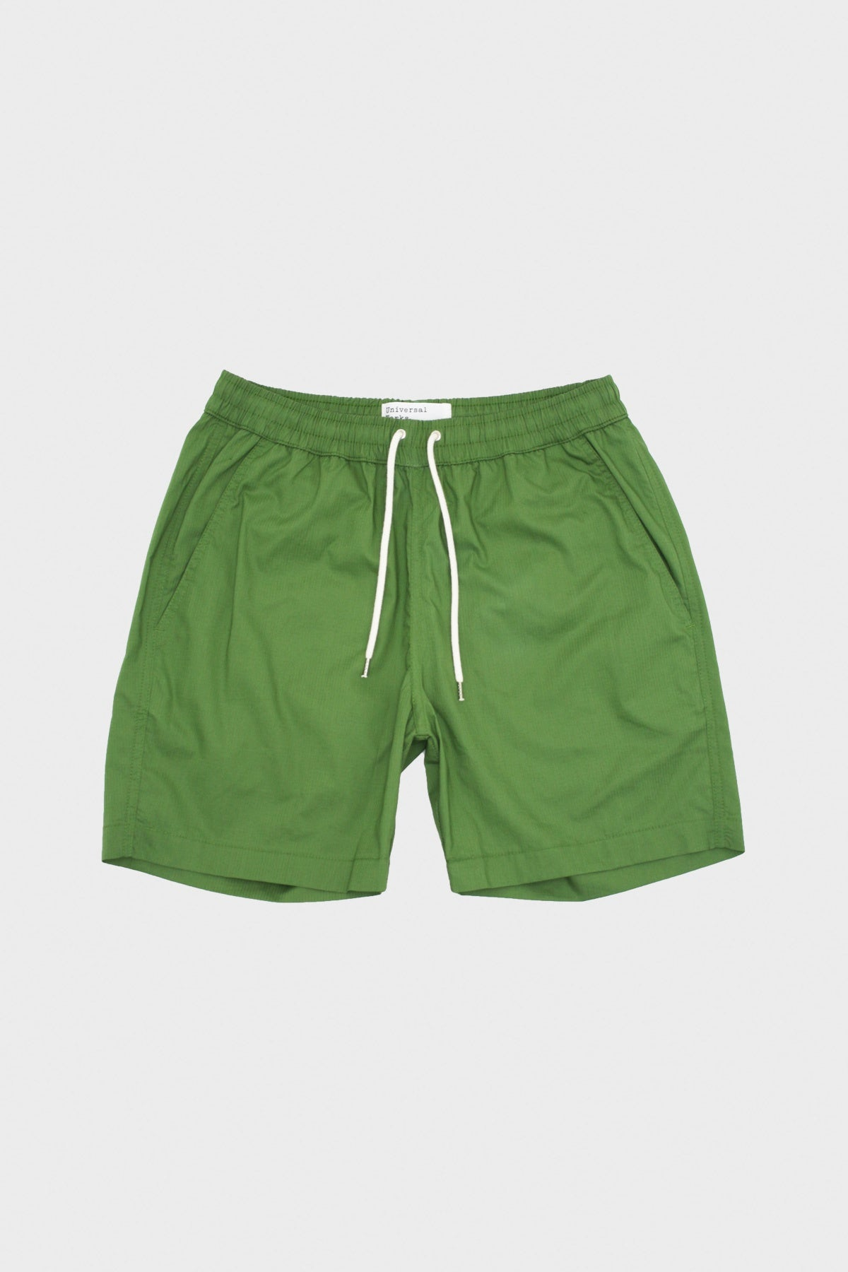 Universal Works - Beach Short Ripstop Cotton - Olive - Canoe Club