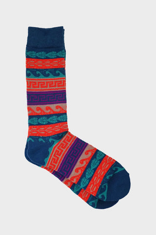 anonymous ism Tribal Pattern Crew socks - Indigo