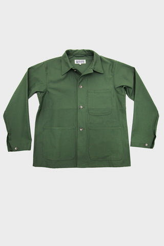 Workaday by Engineered garments Utility Jacket - Olive Reversed Sateen