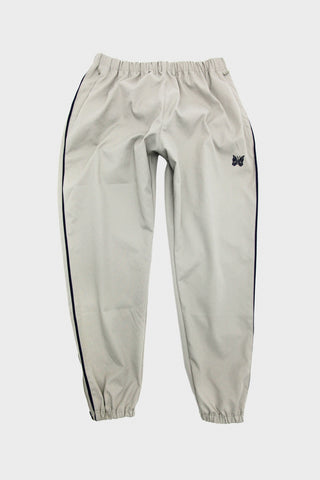 needles side line seam pocket easy pant in grey full image of the front