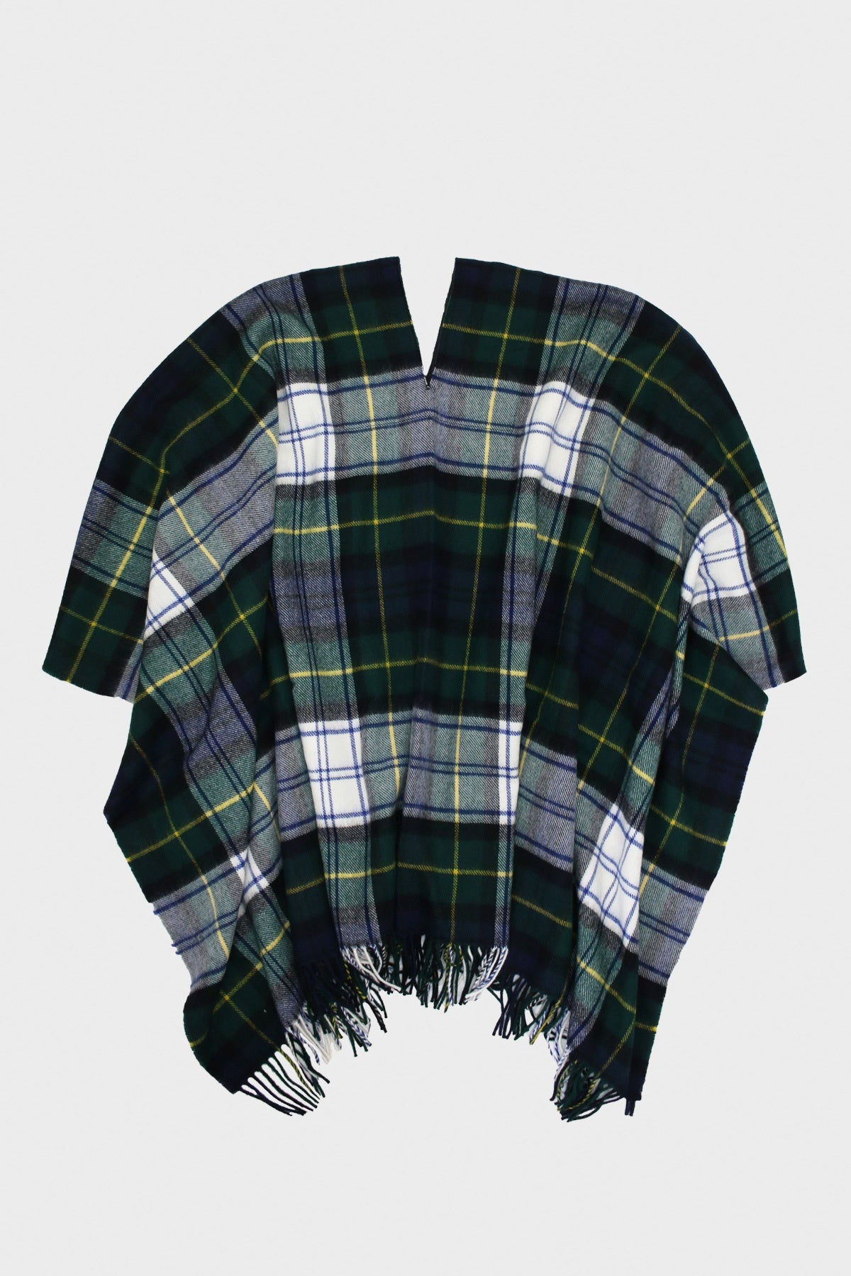 comme des garcons shirt Wool Tartan Check/Wool Nylon Poncho - Green