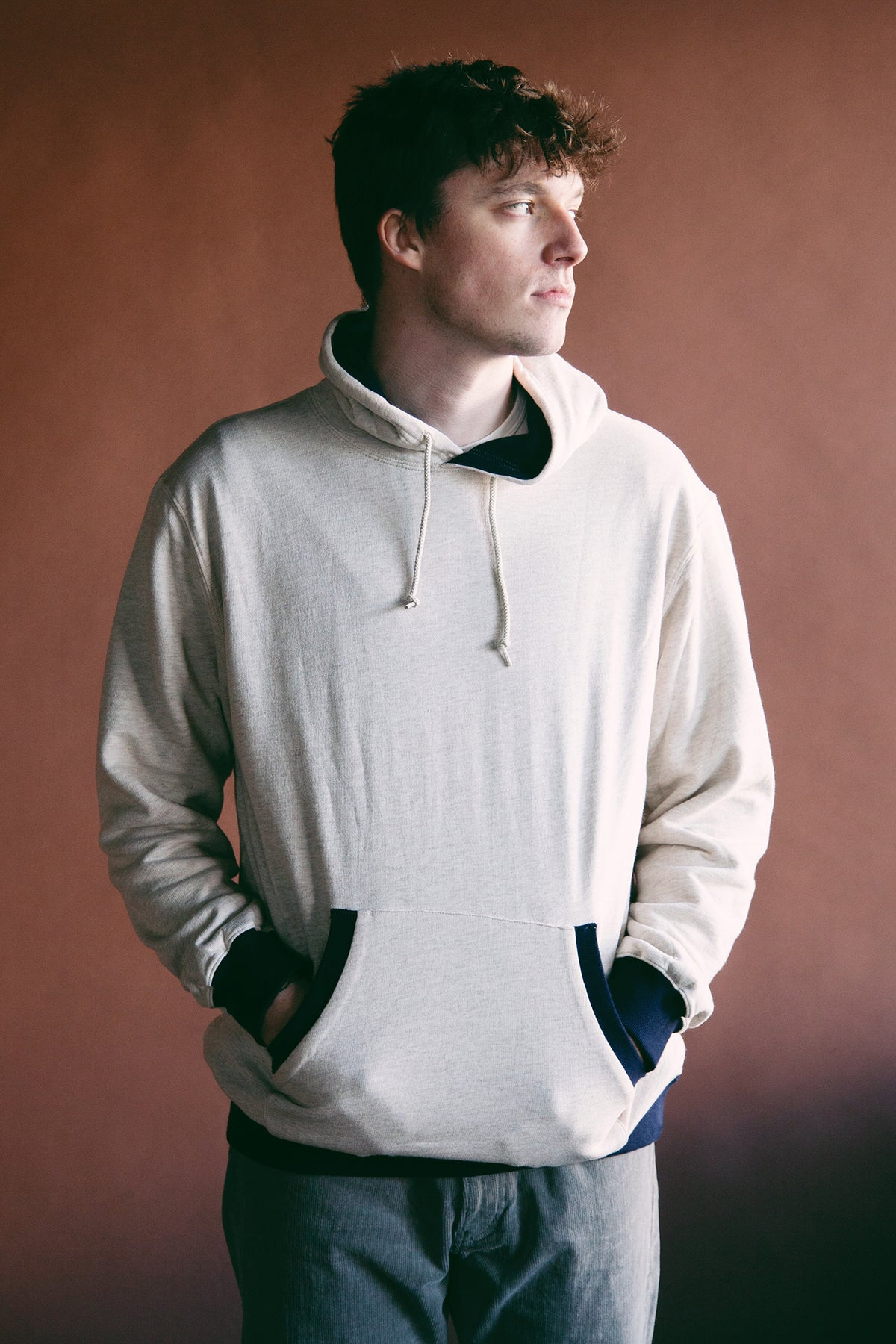 Beams Plus - Two Tone Hoodie - Oatmeal - Canoe Club