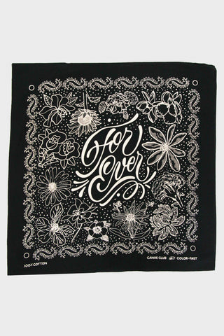 "canoe club ""For Ever"" Bandana - Black"