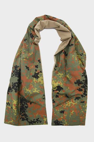 Cotton Shell Reversible Stole with Pockets - Khaki/German Camouflage