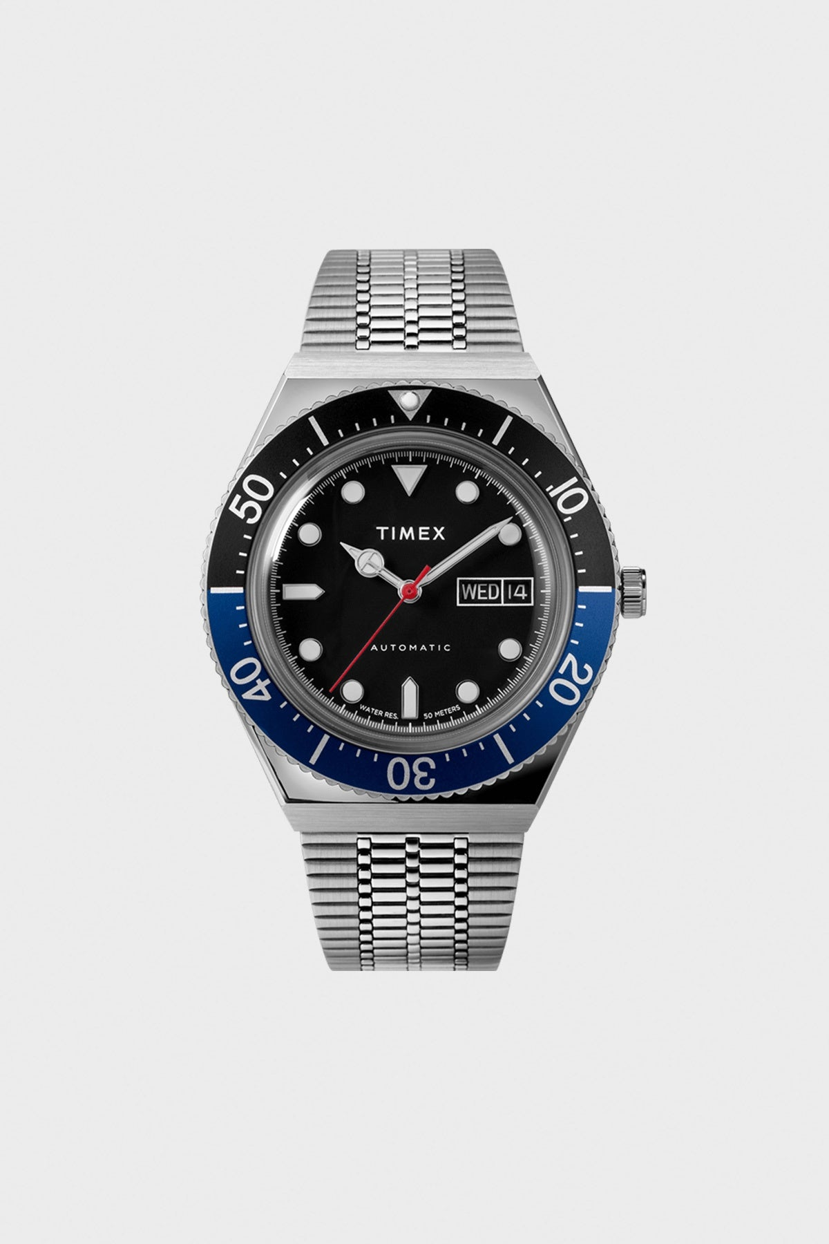 Timex - M79 Automatic 40mm Stainless Steel Bracelet Watch - Canoe Club