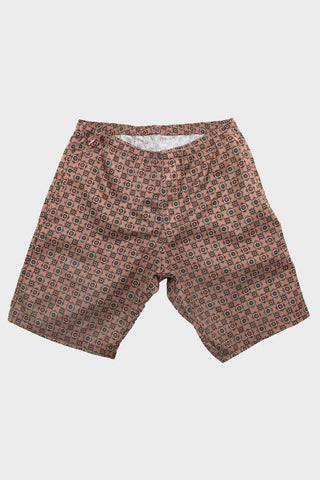 needles taffeta warm-up short in smoke pink full frontal image