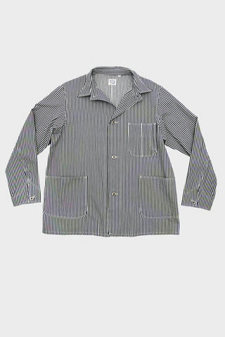 orslow 40's coverall jacket in hickory stripe