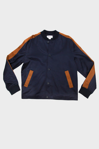 Turf Bomber - Navy/Rust Rayon Satin