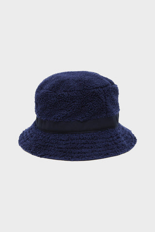 cableami Boa Fleece Bucket Hat - Navy