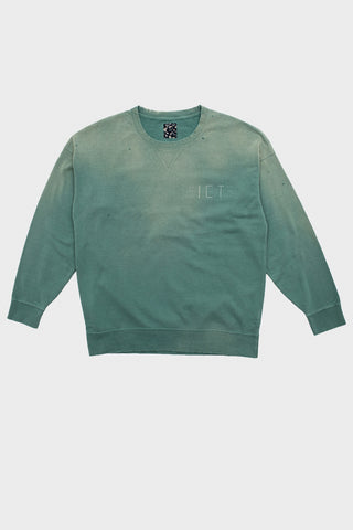 visvim indigo camping trading post find your happiness I.C.T. Jumbo Sweat Long Sleeve - Crash Green
