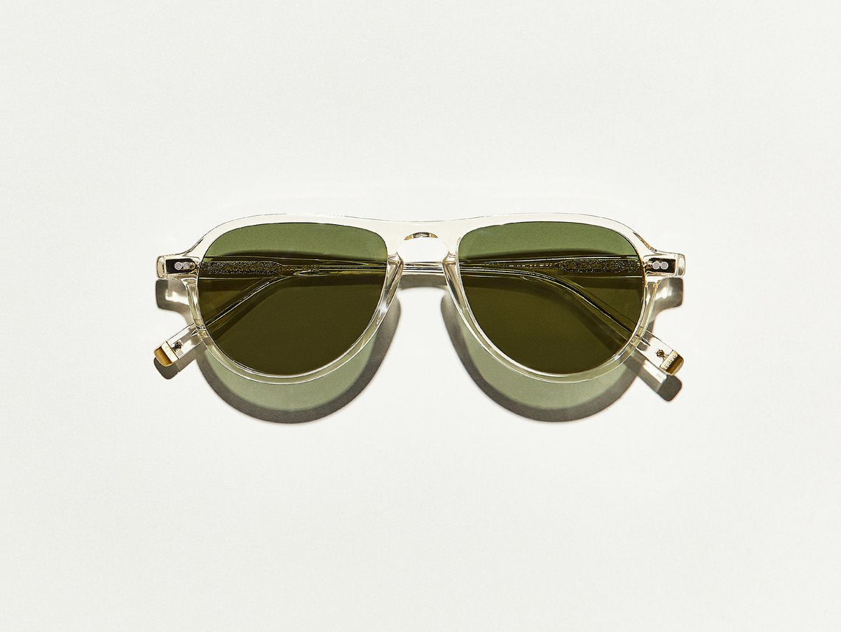 Moscot - Jasper -Flesh/Green Lenses - Canoe Club