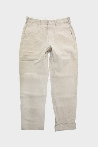 engineered garments Andover Pant - Beige Seersucker Stripe