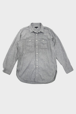 engineered garments Work Shirt - Light Grey Brushed Cotton Twill