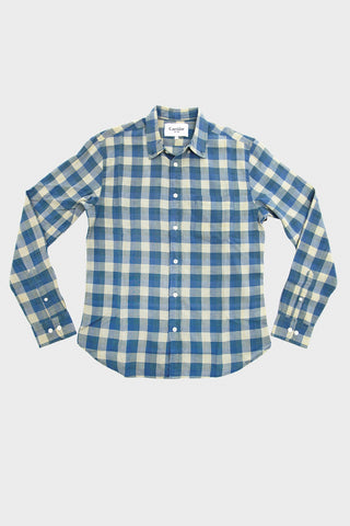 corridor clothing nyc Madras Shirt - Baby Blue