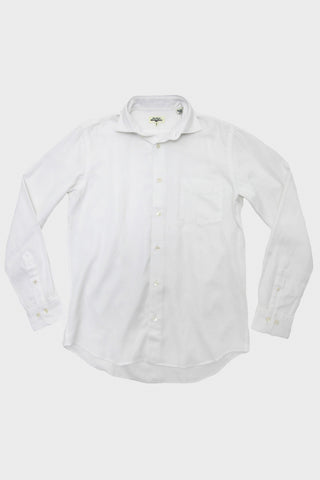 Penn Shirt - White Herringbone