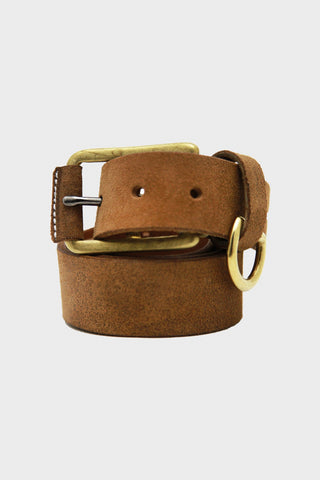 Stitched D-Ring Belt - Brown