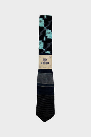 Boro Tie - Indigo Kasuri and Stripes