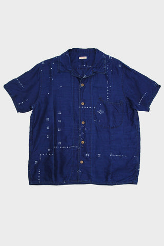 French Cloth Linen Bandana Dye Aloha Shirt