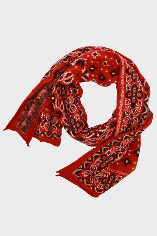 Compressed Wool Scarf BIG MAMA BANDANA - Red