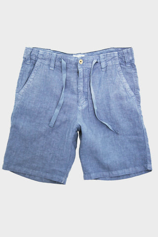 Linen Shorts - Denim