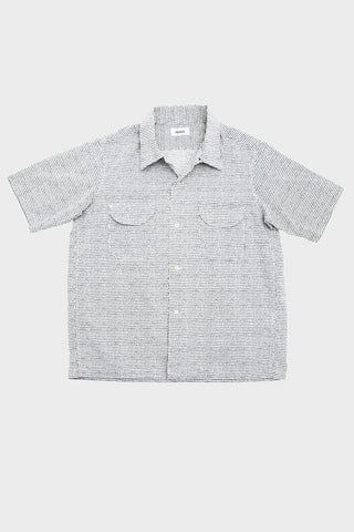 Short Sleeve Loop Collar Shirt - Off White