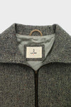 Pomar Driving Jacket - Light Grey Herringbone