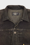 Cowboy Jacket - Washed Black Denim/Leather