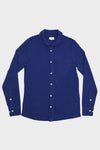 Long Sleeve Pique Polo - Dark Blue