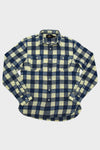 Plaid Cotton-Linen Workshirt - Indigo Cream