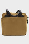 Tote Bag With Zipper - Dark Tan