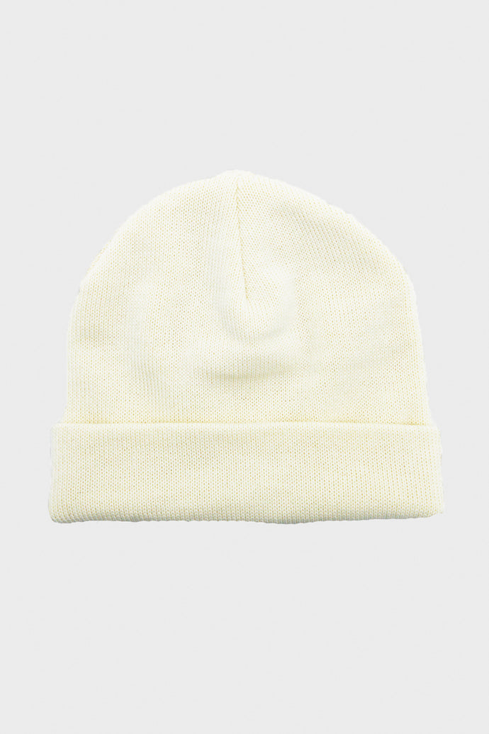 Wool Knit Hat - Cream