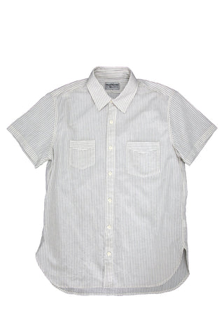 Short Sleeve Service Shirt, Stripe