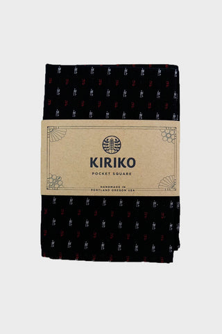 Pocket Square Navy and Red Kasuri-Ori