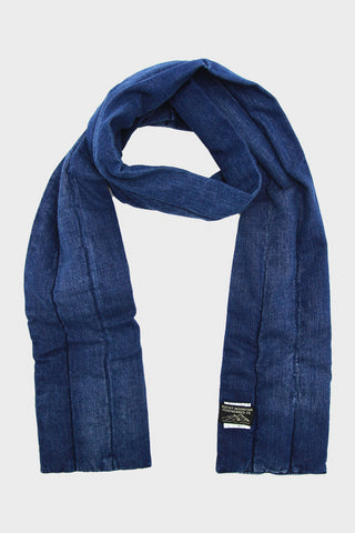 Denim Down Muffler, Indigo (Vintage Wash)