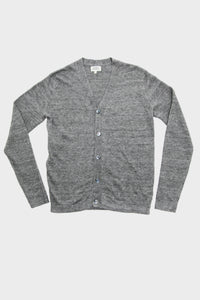 Linen Cardigan - Iron Grey