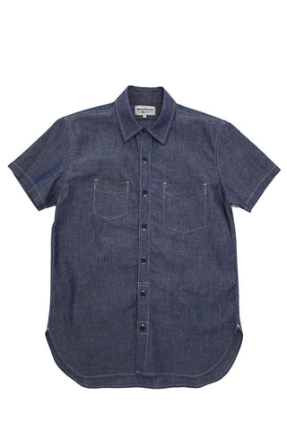 Short Sleeve Service Shirt - Light Indigo