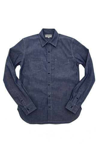 Long Sleeve Service Shirt - Indigo