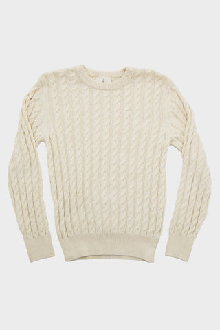 Barreiros Braided Cable Knit - Ecru