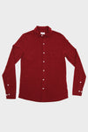 Long Sleeve Pique Polo - Red