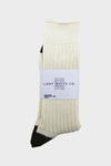Athletic Sock - Natural/Olive