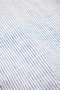 Sammy Oxford Shirt - White/Blue Striped