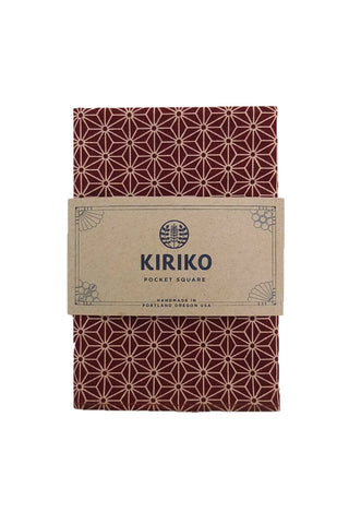 Pocket Square Burgundy Asanoha