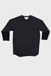 Grunge 3/4 Sleeve Tee - Black
