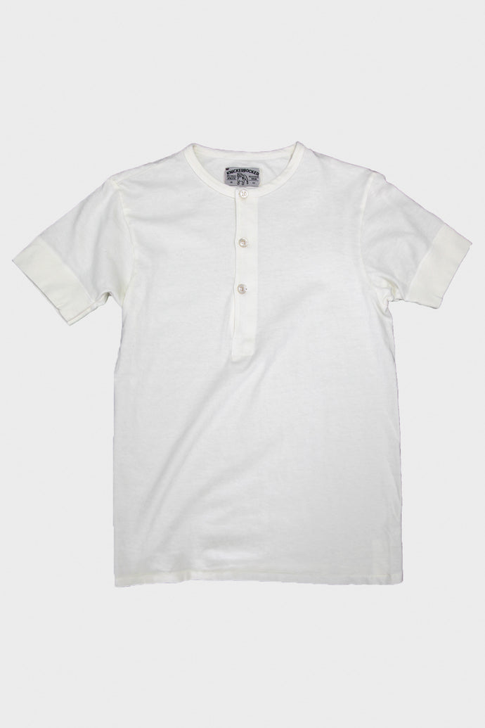 Short Sleeve Henley - Natural