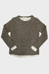 Layered Crewneck Sweater - Beige