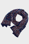 Compressed Wool Scarf BIG MAMA BANDANA - Navy