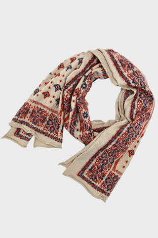 Compressed Wool Scarf BIG MAMA BANDANA - Ecru