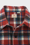 Twill Check Long Sleeve Work Shirt - Red